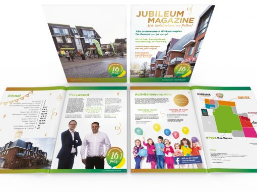 Jubileummagazine winkelcomplex Gervenhof Putten