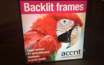 Backlit frame